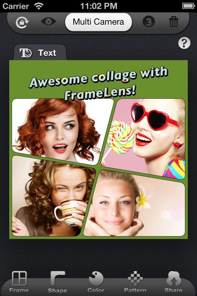 [ ][限时免费] 多镜框架拼图相机 framelens
