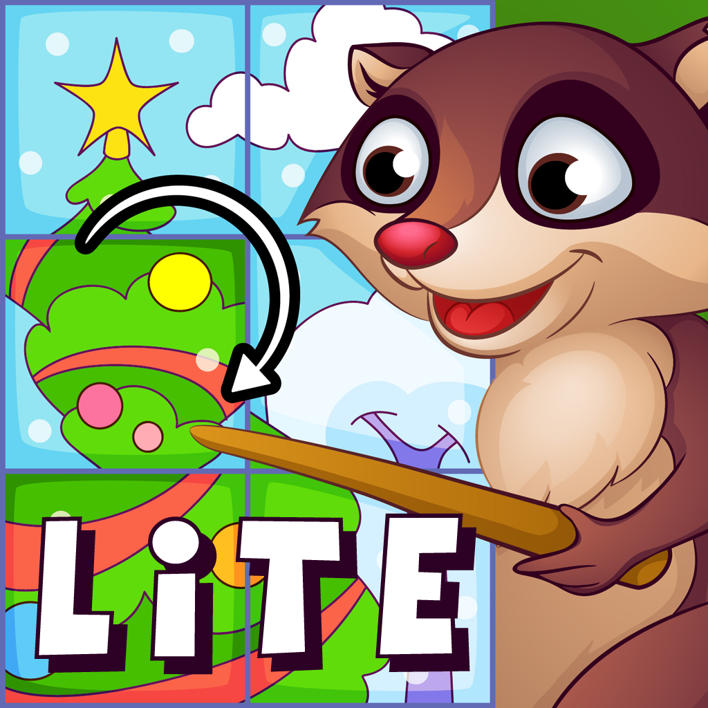 Animals Jigsaw Puzzle Lite: logic games for preschool kids four years old and up